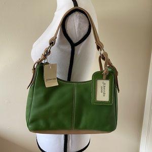 St John's Bay Green Leather Shoulder bag